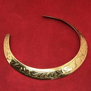 🆕Vintage Brass Etched Collar Necklace from India